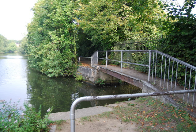 Footbridge on the Medway Valley Walk