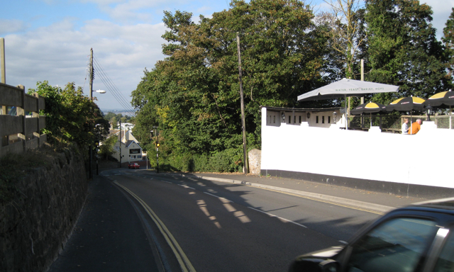 Lower end of Mount Pleasant Road, Dawlish Warren