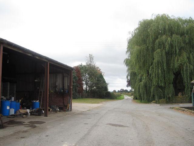 Lane through the middle of the farm