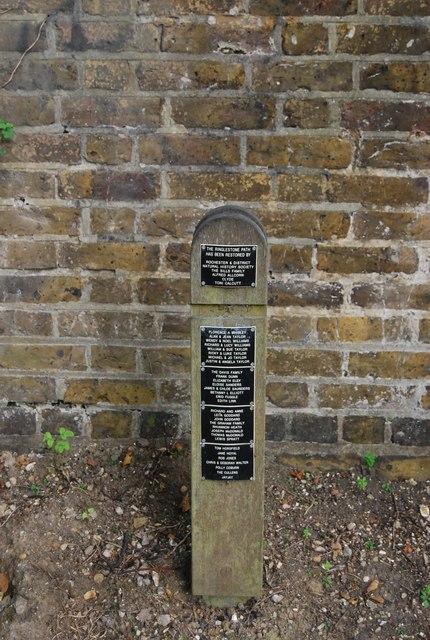 The Allington Path Memorial sign
