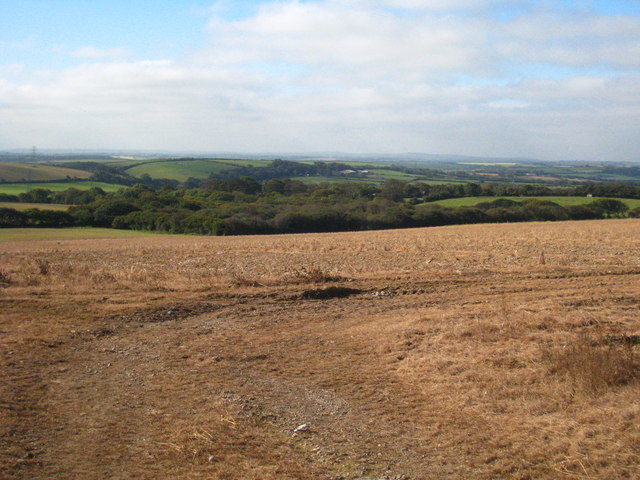Recently harvested field at Higher Ennis