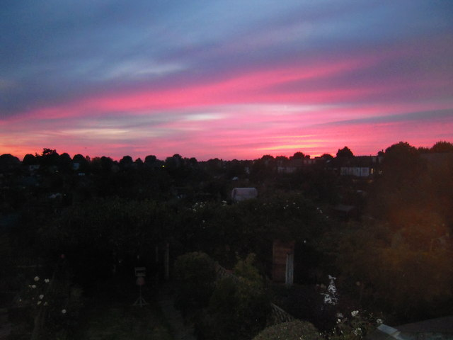 Sunset over West Ealing, London