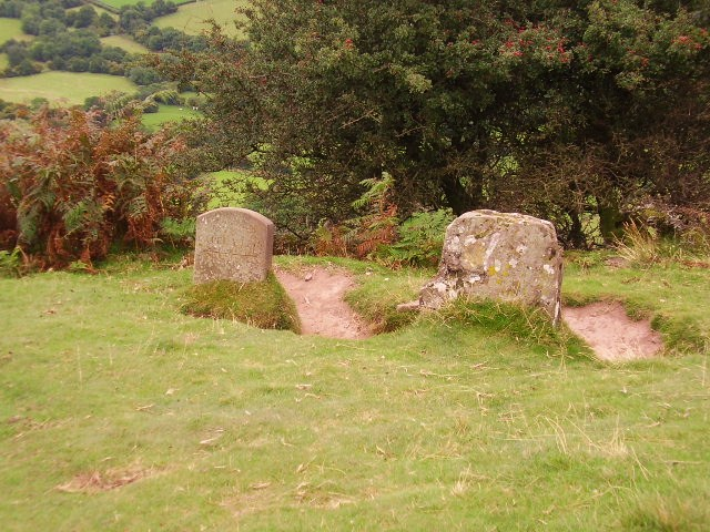 Stones at a path junction