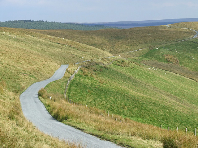 The road to Abergwesyn, Ceredigion