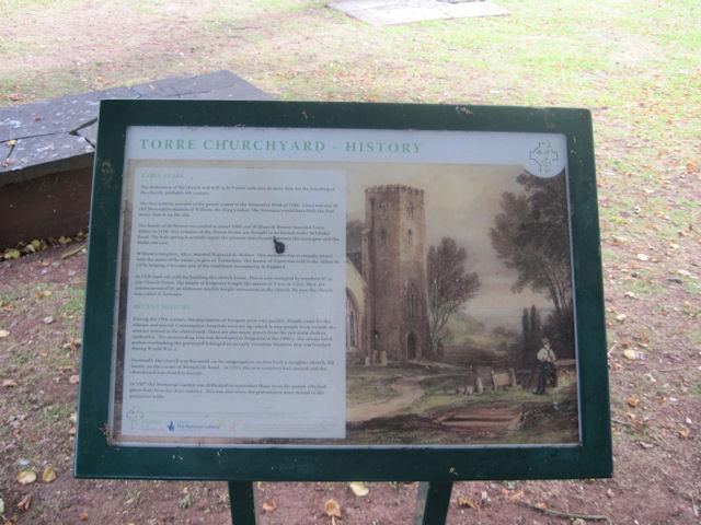 Torre Churchyard History sign