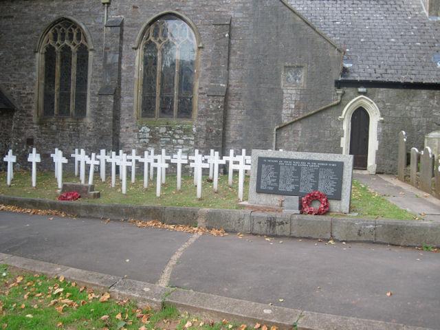 War memorials in Torre churchyard