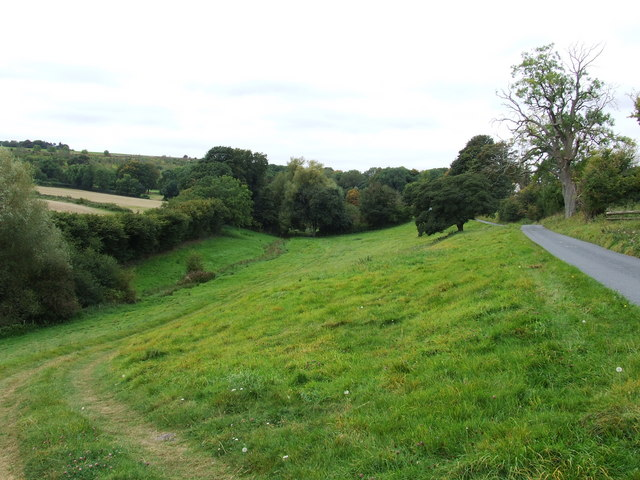Looking towards Townend site of Medieval Village
