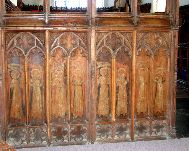 St Mary's church - C15 rood screen