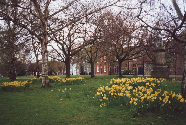 The Cathedral Green in Spring, Norwich