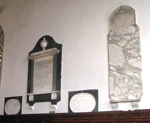 St Mary's church - C19 wall monuments