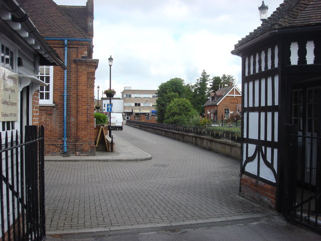 The Causeway from the entrance to Courtauld Mill