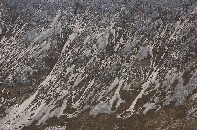 Patterns on a mountainside, Beinn Eighe