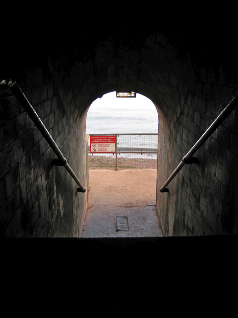 Lower end of Smugglers' Tunnel, the Ness, Shaldon