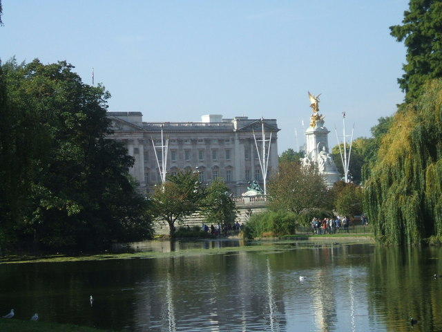 Buckingham Palace seen from St James's  Park