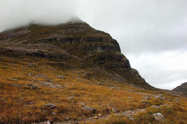 Coire Dubh Mor path under Liathach