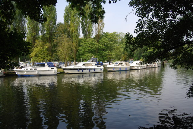 Boats moored on the Medway, Allington Marina