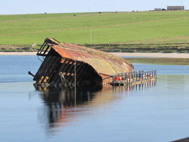 Blockship by Churchill Barrier No. 3.