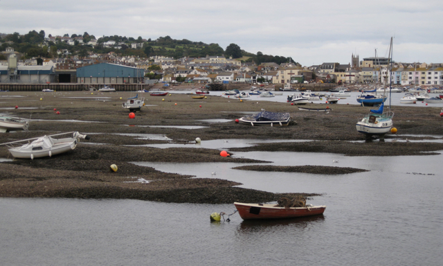The Salty, Teignmouth harbour, low tide