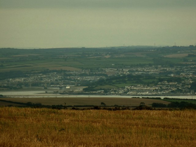 Bideford, Northam & Appledore as seen from the junction of Aylescott Lane & the A3123