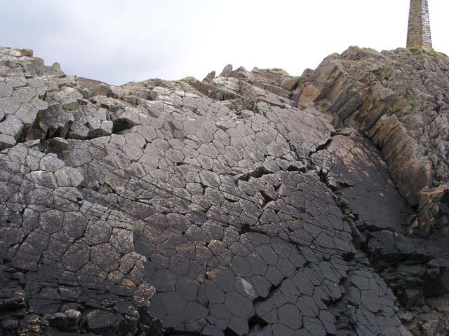 Dolerite Columnar Basalt at Pen Anglas