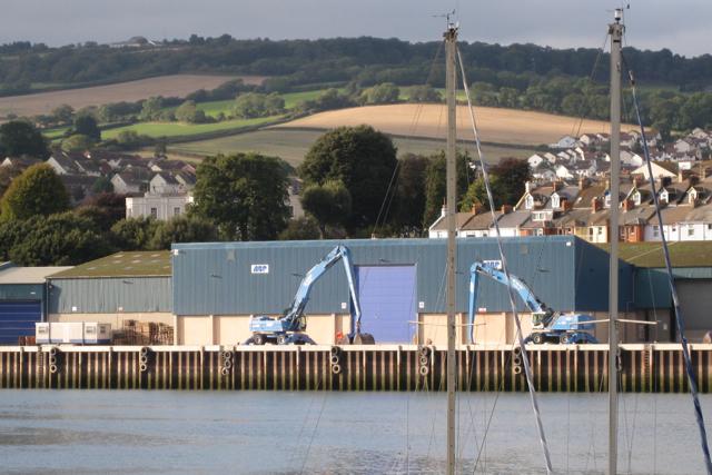 Associated British Ports' sheds, Teignmouth quays