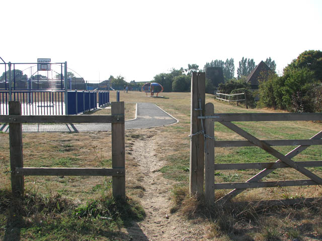 Entrance to the Norton, Thurlton and Thorpe playing field