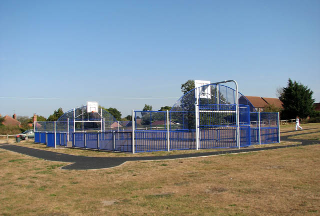 Thurlton playing field - the basketball arena