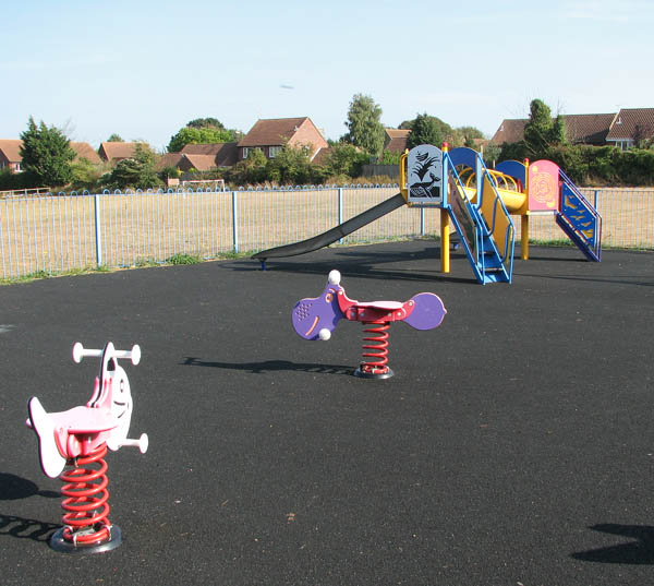 Children's playground at Thurlton playing field