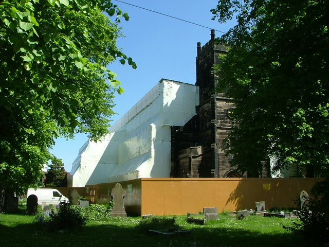 Erdington Parish Church after the fire