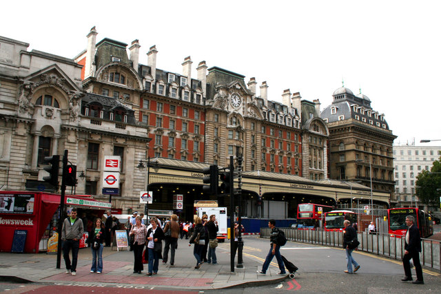 Frontage of Victoria station