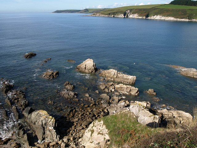 Rocks at the mouth of the Erme