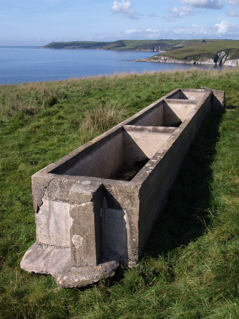 Animal trough above Fernycombe Point