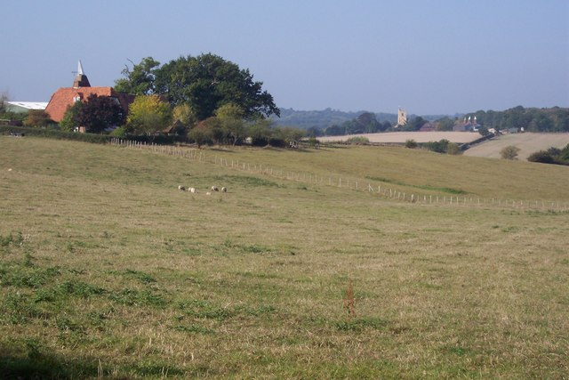 View of Hammonds Farm and St Margaret's Church