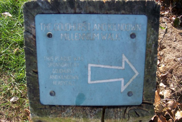 The Goudhurst and Kilndown Millennium Walk Marker
