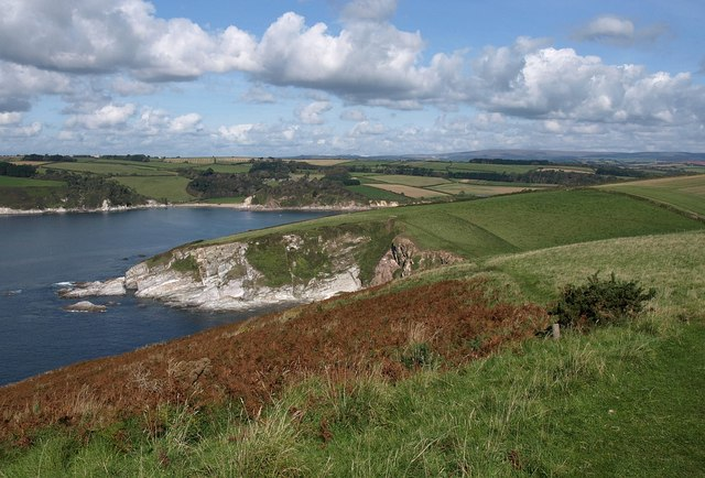 Fernycombe Point and the Erme estuary