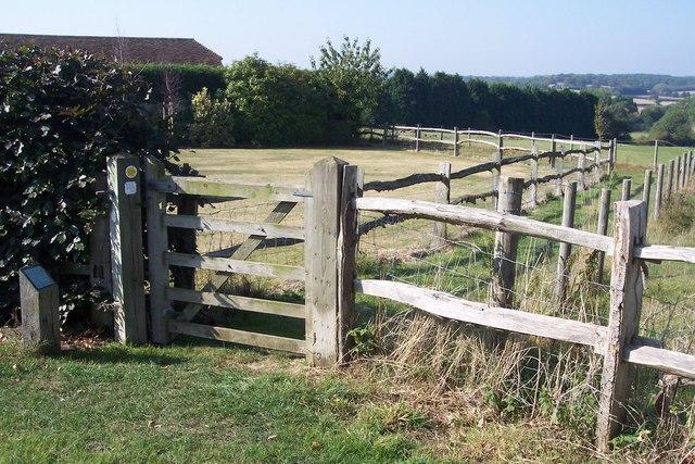 Gate near Crowbourne Farm