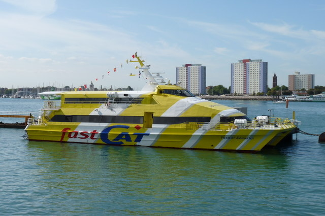 FastCat Shanklin in Portsmouth Harbour