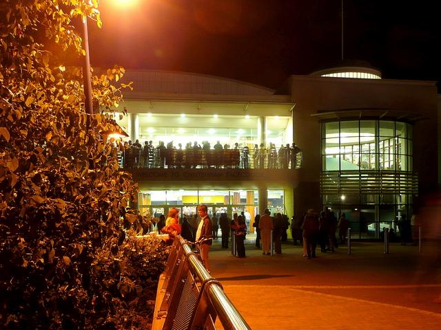 The Centaur, Cheltenham Racecourse at night 1
