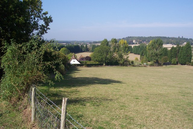 Lower Crowbourne Farm and Weald landscape