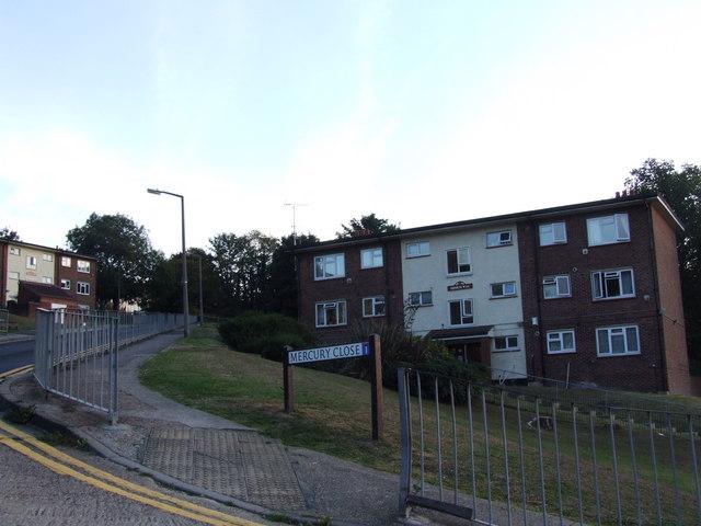 Junction of Shorts Way and Mercury Close, Borstal