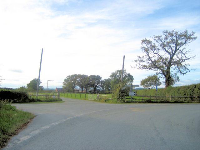 Cross Roads near Severn House