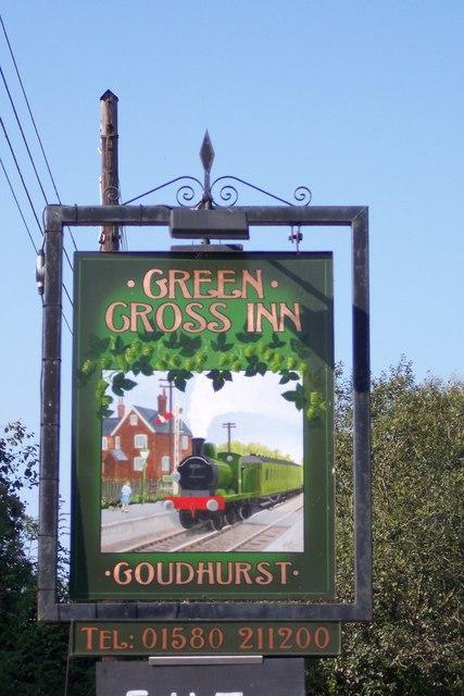 Green Cross Inn Pub Sign