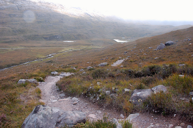 On the way down, Torridon