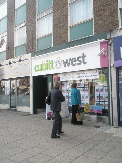 cubitt & west in Fareham town centre
