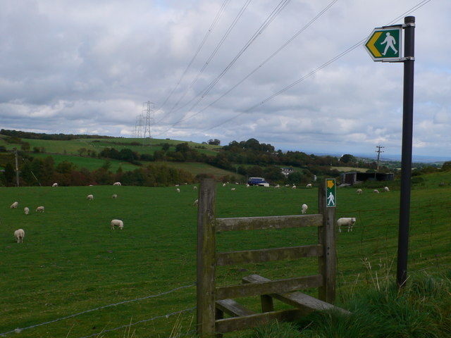 Footpath from Allt Bryn-Fotty, Graianrhyd