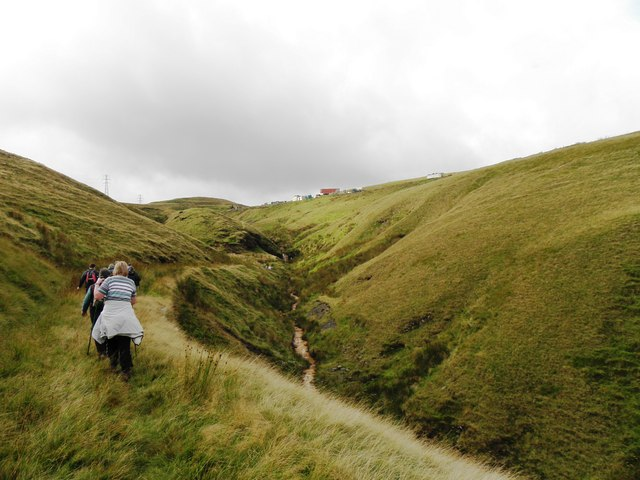 Walking up Beater Clough