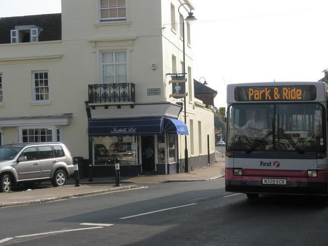 Park & Ride bus passing Union Street
