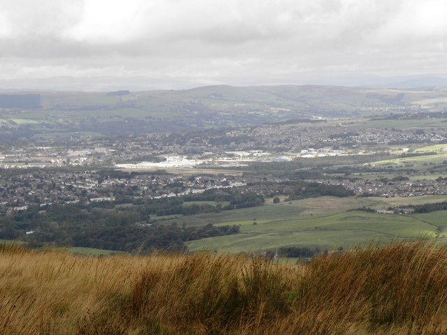 Burnley seen from Thieveley Pike