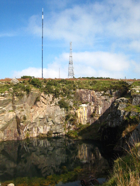 Flooded quarry on Caradon Hill