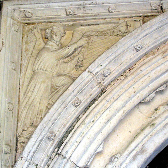 The church of All Saints - C15 north doorway (detail)